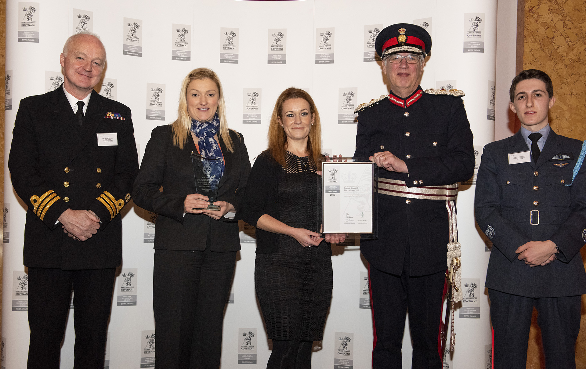 Forward Assist Recruitment receives MOD's Silver Employer Recognition Scheme Award