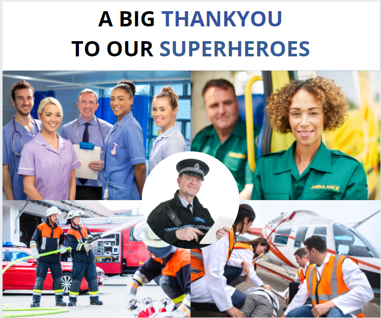 """The GoRanks.com  Team would like to say a """"A BIG THANKYOU TO OUR EVERYDAY SUPERHEROES """" Thankyou for taking care of us..."""