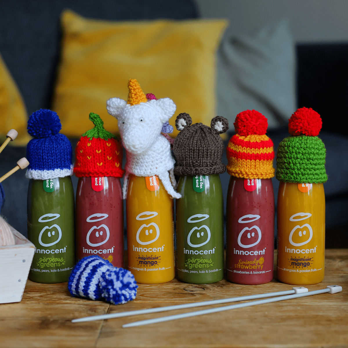 WHAT DO YOU GET WHEN YOU CROSS A DINOSAUR, LION, UNICORN AND A DUCK? THE BIG KNIT OF COURSE!