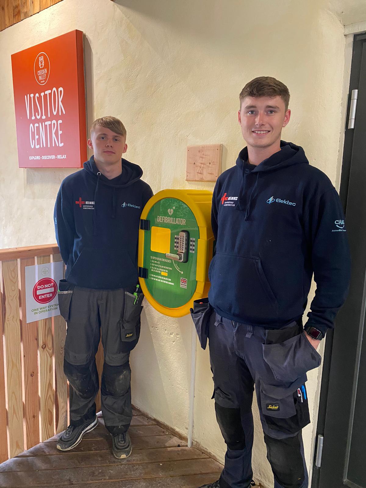 Elektec team assist Cuerden Valley Park Trust to save lives