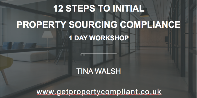 New workshop for property sourcers!  12 Steps to Sourcing Compliance