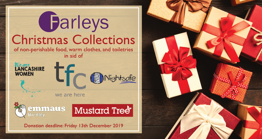 Farleys Solicitors Announce Christmas Giving Campaign for 2019