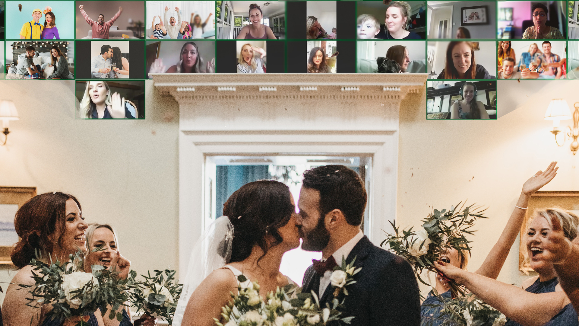Transforming the wedding experience for couples during COVID with the Virtual Wedding Wall