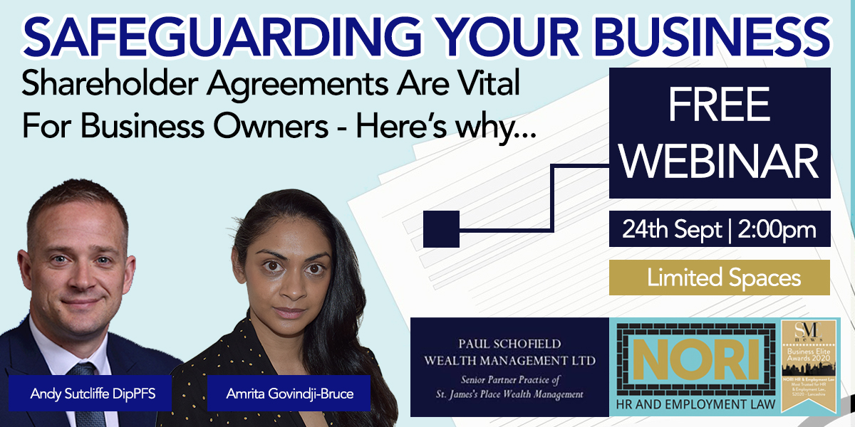 Free Webinar - Safeguarding Your Business With Shareholder Agreements